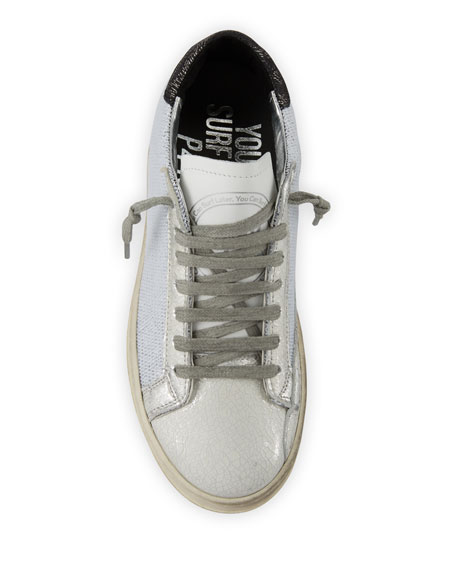 P448 John In Space Metallic Low-Top Sneakers