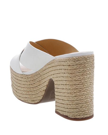 Schutz Lora Crisscross Platform Sandals