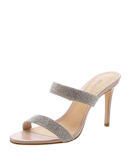 Schutz Beatriz Crystal-Embellished Evening Sandals