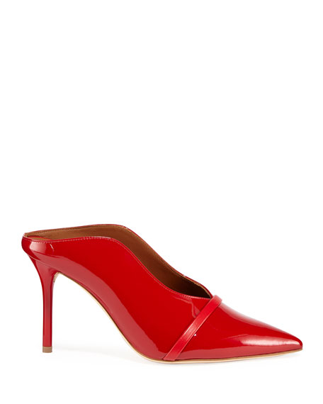 Malone Souliers Constance 85mm Patent Leather High-Side Mules