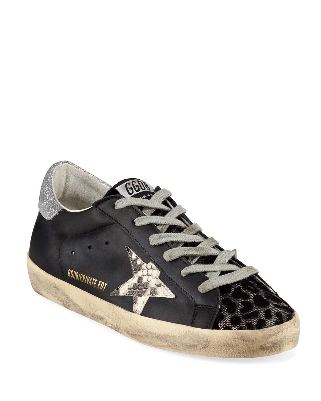 111d37b01b90 Golden Goose Superstar Python & Leopard Print Sneakers | Neiman Marcus