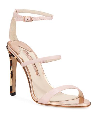 Rosalind Strappy Leopard-Heel Sandals