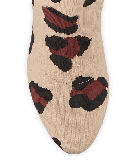 Stuart Weitzman Violetta Leopard-Print Sock Booties