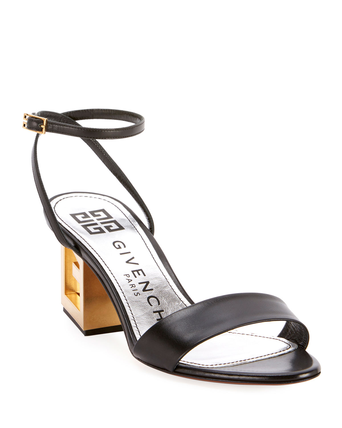 Givenchy Leather Sandals with Triangle