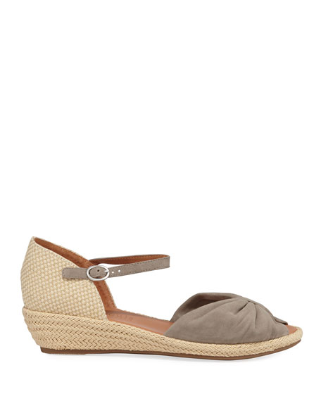 Image 2 of 3: Gentle Souls Lucille Suede Demi-Wedge Sandals