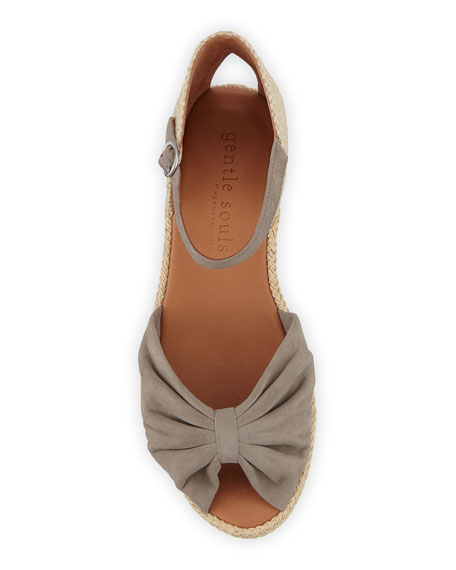 Image 3 of 3: Gentle Souls Lucille Suede Demi-Wedge Sandals