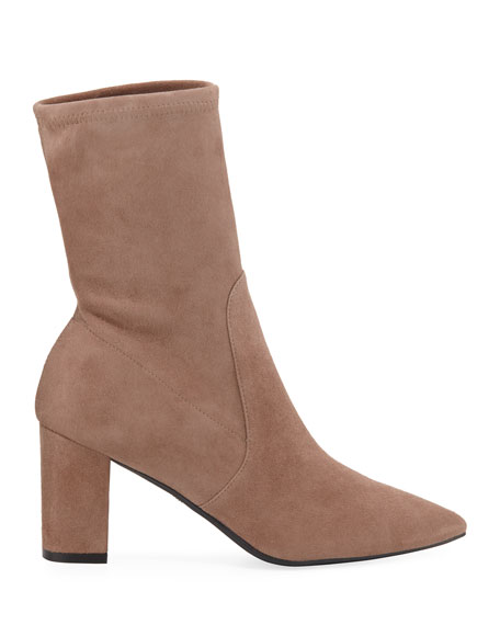 Image 2 of 3: Landry Stretch Suede Booties