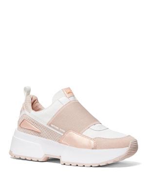 MICHAEL Michael Kors Cosmo Slip-On Suede Wedge Sneakers