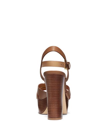 MICHAEL Michael Kors Dalia Leather Flower Platform Sandals