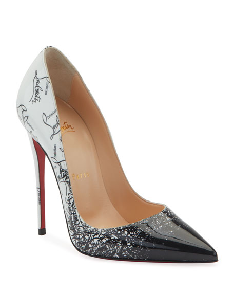 Christian Louboutin So Kate 120mm Patent Degraloubi Red Sole Pumps