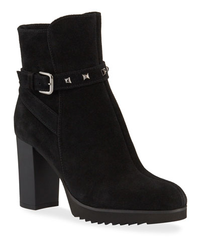 Marilyn Waterproof Suede Platform Booties