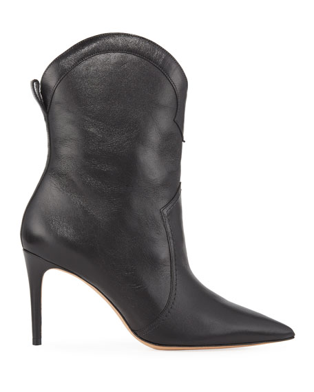 Alexandre Birman Esther Leather Pointed Boots