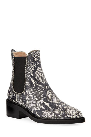 Coach Bowery Bead-Chain Booties