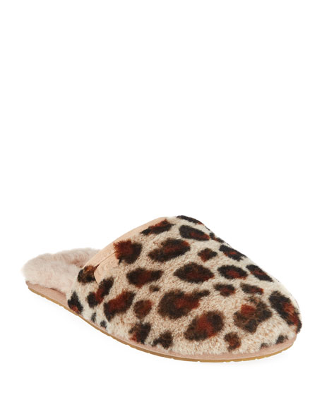 UGG Fluffette Leopard Flat Slippers