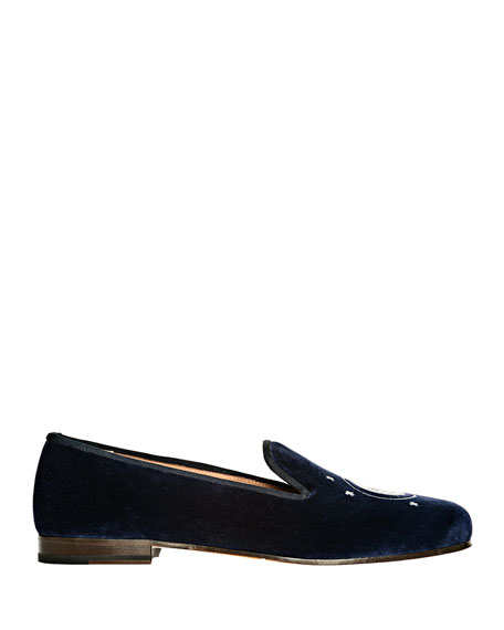 Stubbs and Wootton Nite N Day Velvet Slippers