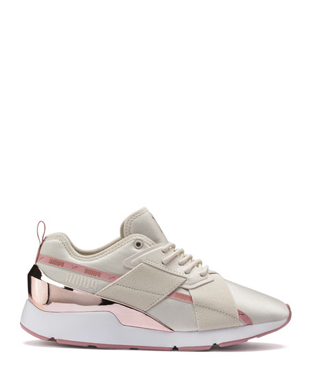 Puma Muse Metallic Lace-Up Sneakers