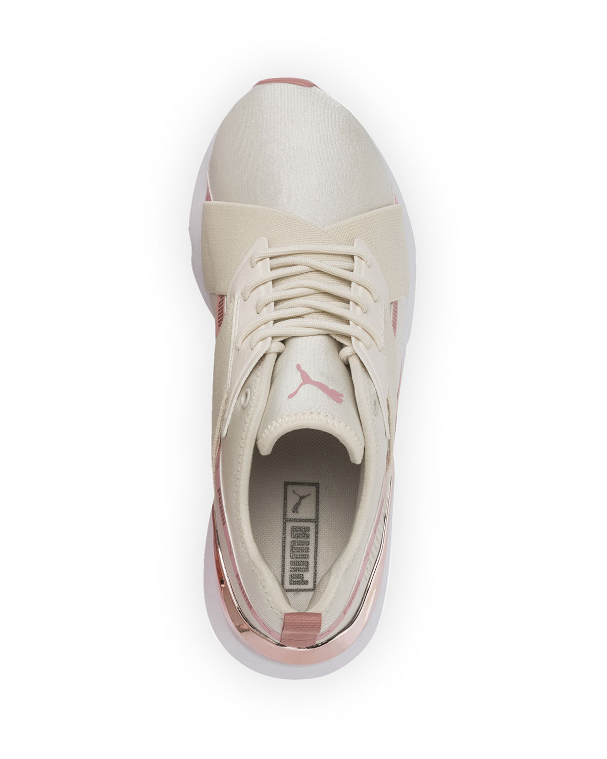 Muse Metallic Lace Up Sneakers by Puma