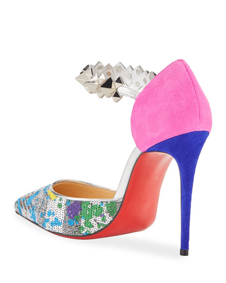 Christian Louboutin Planet Chic Embellished Red Sole Pumps