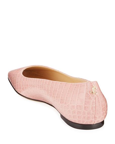 Jimmy Choo Mirele Mock-Croc Ballet Flats