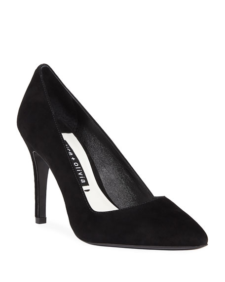 Image 1 of 4: Dina Suede Pointed Pumps