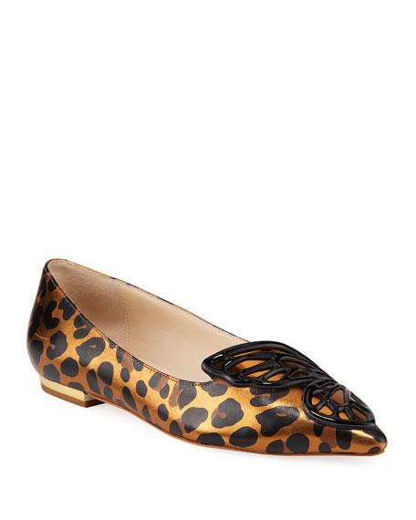 Sophia Webster Butterfly Metallic Leopard Ballet Flats
