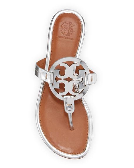 Tory Burch Miller Metallic Flat Sandals