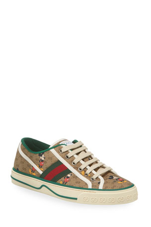 Gucci Disney x Gucci Vulcan Mickey GG Canvas Sneakers