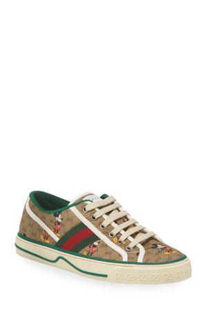 Gucci Disney x Gucci Vulcan Mickey GG Canvas Sneakers