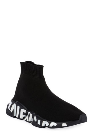 Balenciaga Stretch-Knit High-Top Sock Trainer