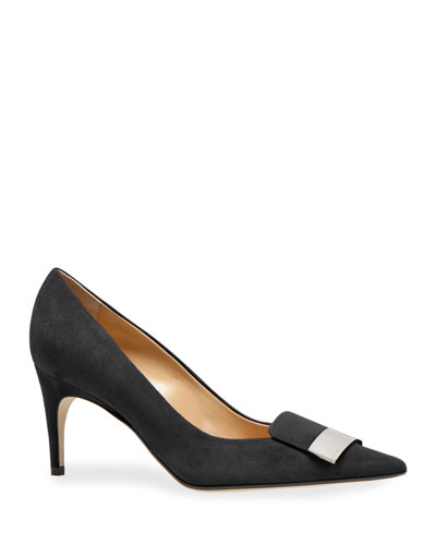 SR1 75mmm Suede Pumps