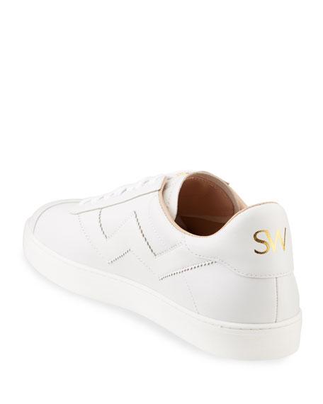 Stuart Weitzman Daryl Leather Low-Top Sneakers