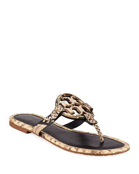 Tory Burch Metal Miller Slide Sandals