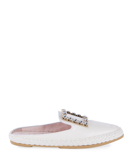 Roger Vivier Viv' Lounge Flat Leather Mules