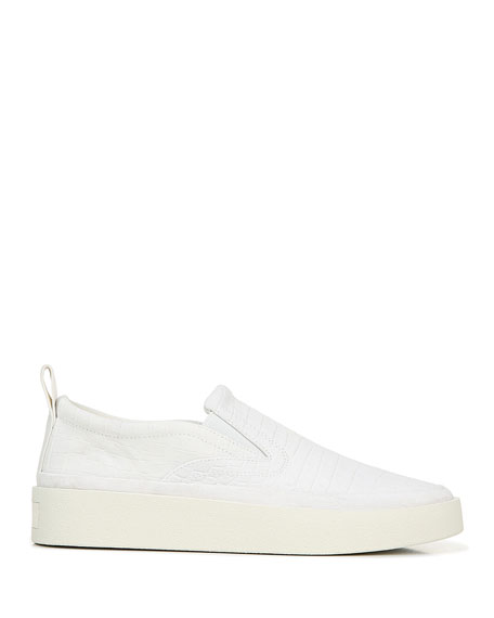 Via Spiga Markie Mock-Croc Laceless Sneakers