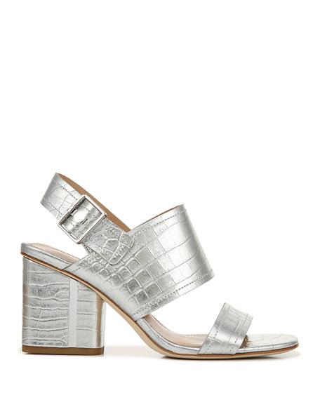 Via Spiga Harriett Metallic Leather Slingback Sandals