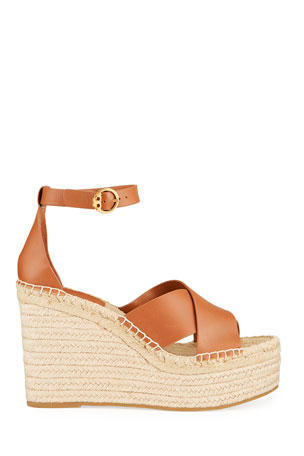 Womens Ladies Low Wedge Heel Espadrille Platform Stud Strappy Summer Sandals