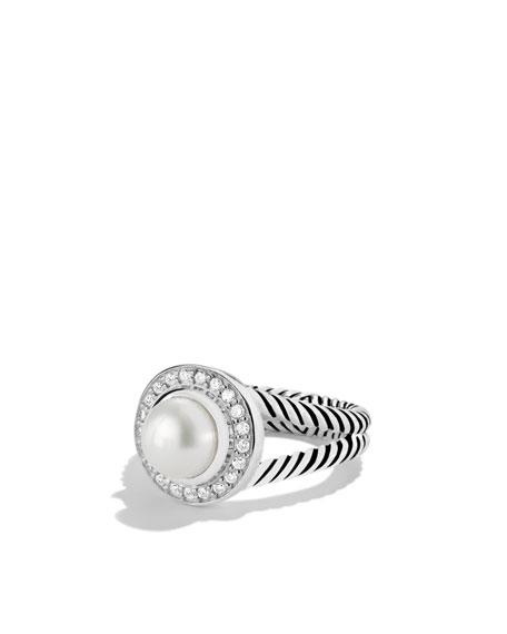 David Yurman Petite Cerise Ring with Pearl and