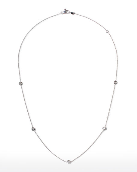 White Gold Five-Station Diamond Necklace