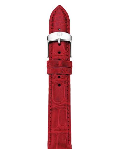 18mm Alligator Watch Strap  Garnet