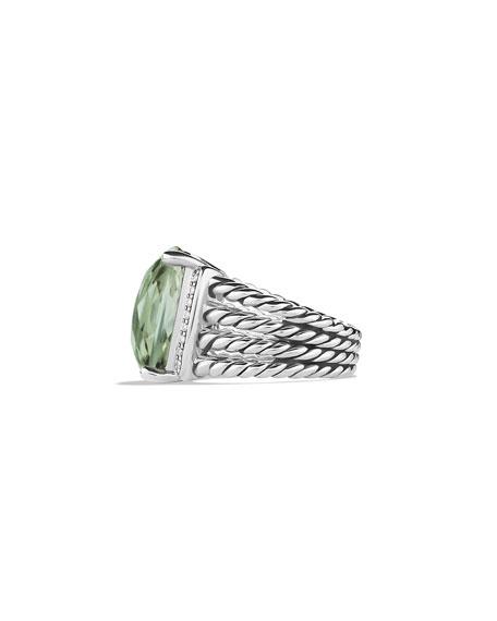 David Yurman Wheaton Ring with Prasiolite and Diamonds