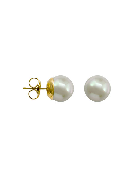 Majorica White Simulated Pearl Stud Earrings, 6mm