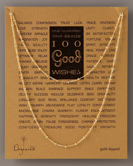 100 GOOD WISHES NECKLACE