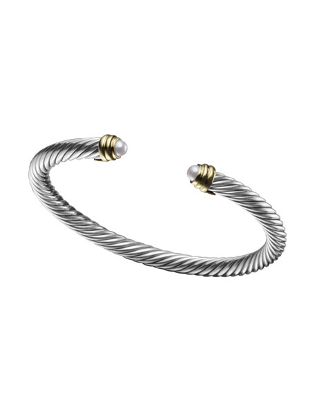 David yurman 5mm pearl cable classics bracelet small for David yurman inspired bracelet cable