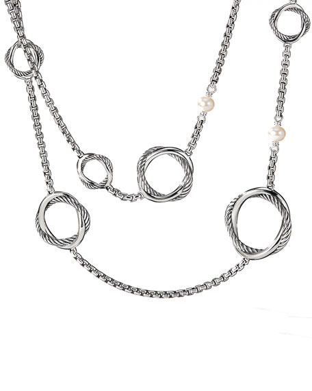David Yurman Infinity Necklace with Pearls