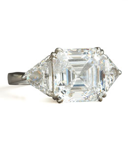 Fantasia by DeSerio Asscher-Cut Cubic Zirconia Ring
