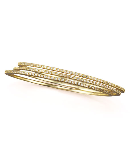 Diamond Slip-On Bangle, 14k yellow gold