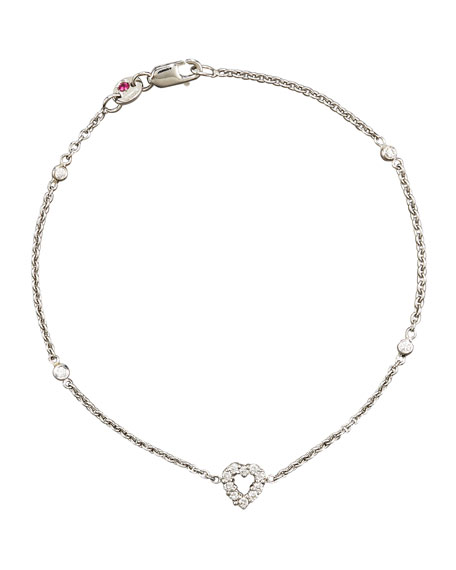 Tiny Treasure Diamond Heart Bracelet