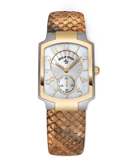 Ladies' Classic Two-Tone Watch on Interchangeable Gold Snake Strap