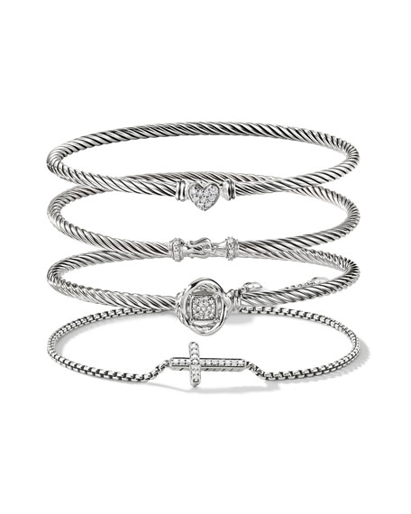 Image 3 of 3: David Yurman Cable Buckle Bracelet with Diamonds