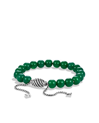 David Yurman Spiritual Beads Bracelet with Green Onyx